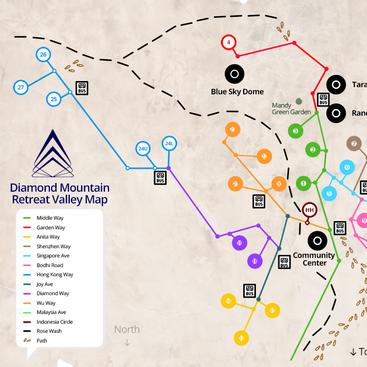 Diamond Mountain Retreat Valley Map