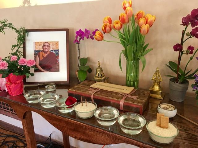 Tibetan Buddhist altar