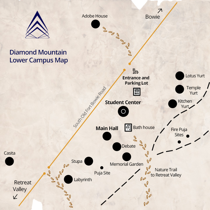 Diamond Mountain Lower Campus Map
